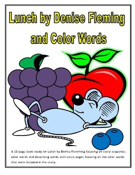 Lunch by Denise Flemming Book Study with Color Words