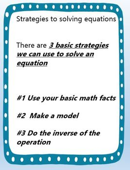Making an Equation Packet
