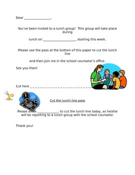 Lunch group invitation
