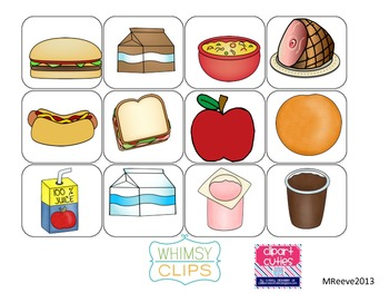 Lunch time Choice Boards for students with Autism and other disabilities*FREEBIE