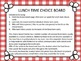 Lunch time Choice Boards for students with Autism and othe