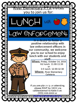 Lunch with Law Enforcement- Police Appreciation Event