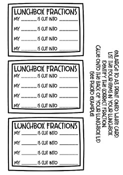 Lunchbox Fractions