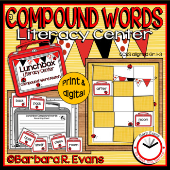 COMPOUND WORDS LITERACY CENTER School Theme Compound Words Activities