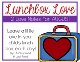 August Lunch Box Love Notes