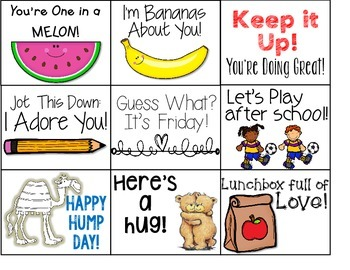 September Lunch Box Love Notes