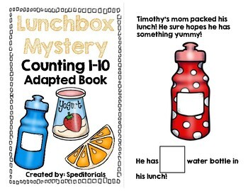Lunchbox Mystery Adapted Book (Counting 1-10)