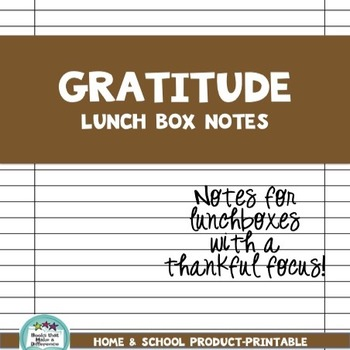 Lunchbox Notes-Thanksgiving