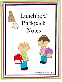 Lunchbox and Backpack Notes (Freebie)