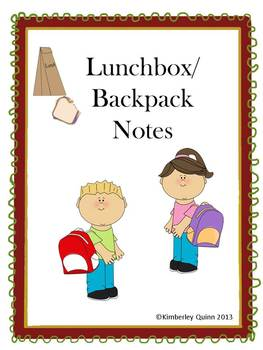 Lunchbox and Backpack Notes (Pre-K - Grade 6)