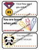 Lunchbox notes for kids, 15 fill in the blank printable notes