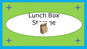 Lunchboxes Etc. Storage Crate Label - Lime & Teal - with Clipart