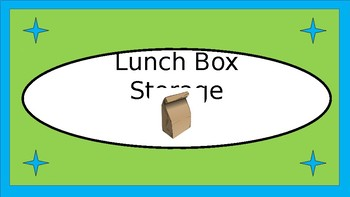 Lunchboxes Etc. Storage Crate Label - Lime & Teal with Clipart - V2