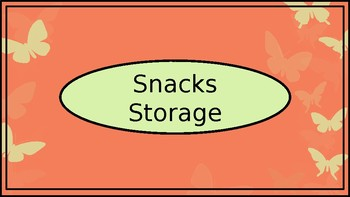 Lunchboxes, Snacks & Water Bottles Storage Crate Label - Coral BflyTheme - Wide
