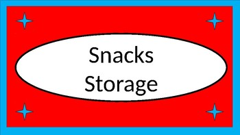 LunchboxesSnacks&WaterBottles Storage Crate Label - Dr. Seuss Tribute Colors