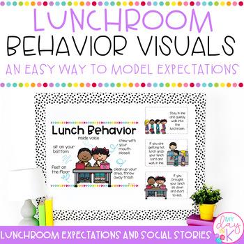 Lunchroom Behavior Visuals *Editable*