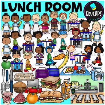 Lunchroom Clip Art Bundle {Educlips Clipart}