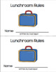 Lunchroom Rules - Reader in English Only