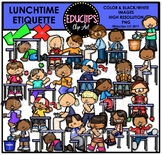 Lunchtime Etiquette Clip Art Bundle {Educlips Clipart}