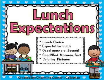 Lunchtime Expectations Activity Pack