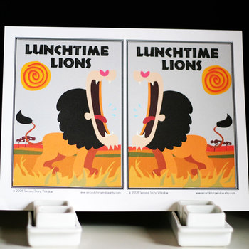 Lunchtime Lions Nouns Grammar Game