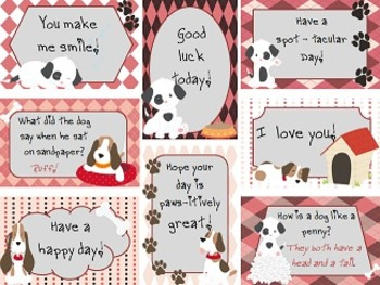 Lunchtime Love Notes Set 3 - Puppies