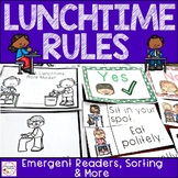 Lunchtime & Lunchroom/ Cafeteria Rules {Sorting, Emergent Reader & More}