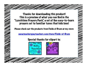 Lunchtime Prayer (FREEBIE)