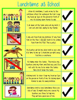 Lunchtime Rules at School