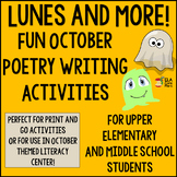 Lunes and More! Fun Fall or Halloween Poetry for Middle School ELA