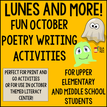Lunes and More! Fun Fall or Halloween Poetry for Middle Sc