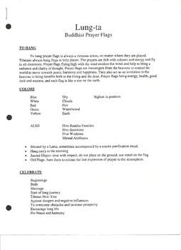Lung -ta Buddist Prayer Flags Handout (Page 1)