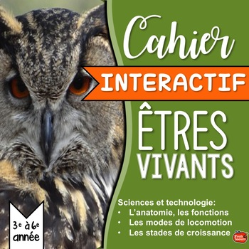 SCIENCE en FRANÇAIS: Animaux / Cahier Interactif / French Interactive notebook
