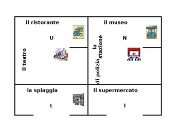 Luoghi (Places in Italian) 4 by 4