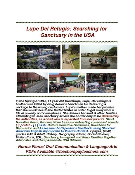 Lupe Del Refugio Searching for Sanctuary in the USA