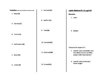 Lupita Manana Study Guide Bookmark