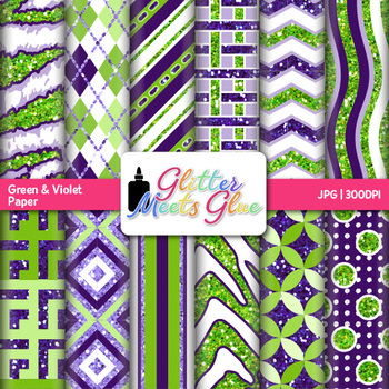 Lime and Grape Paper {Scrapbook Backgrounds for Task Cards