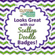 Lime and Grape Paper {Scrapbook Backgrounds for Task Cards & Brag Tags}
