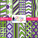 Lime and Grape Scrapbook Paper Backgrounds {Glitter Meets Glue}