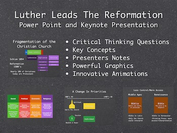 Luther Leads The Reformation PowerPoint and Keynote Presentation