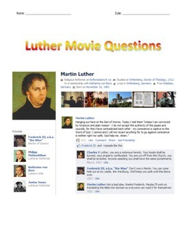 Luther Movie Guide (2003, with Joseph Fiennes)