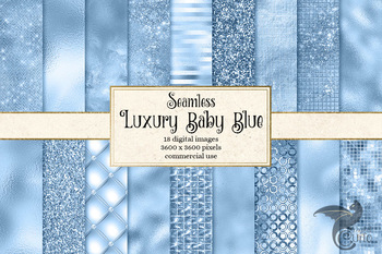 Luxury Baby Blue seamless textures digital paper