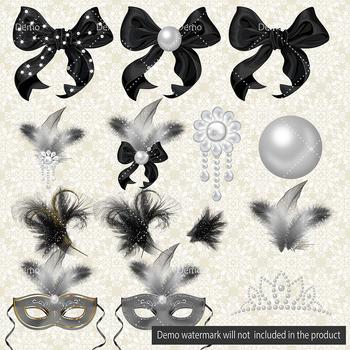 Luxury Bag Shine The Night Clip Arts Masquerade Feather