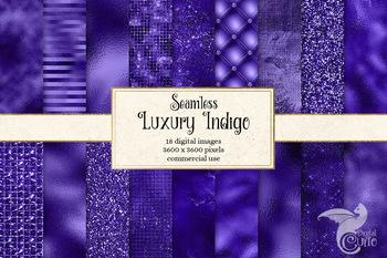 Luxury Indigo Textures, seamless digital paper