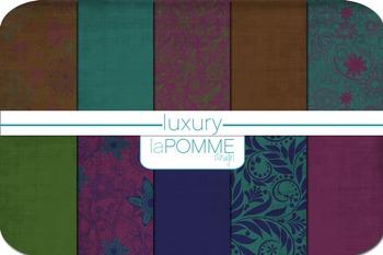 Luxury Jewel Tones Autumn Patterned Digital Paper Pack