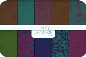 Luxury Jewel Tones Autumn Patterned Digital Paper Pack