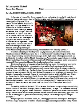 Luxury Movie Theaters Case Study