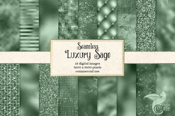 Luxury Sage Green Textures, seamless digital paper backgrounds
