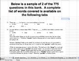 Lv 1 Vocab Question Banks--Sentence Completion