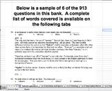 Lv 2 Vocab Question Banks--Sentence Completion